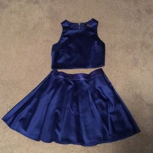 Lulus Royal blue 2 piece dress